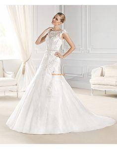 Col U profond Elégant & Luxueux Sans manches Robes de mariée 2015