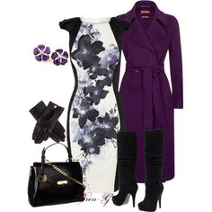 """""""Untitled #133"""" by bren-g on Polyvore / The coat and boots are what I want!!!!"""
