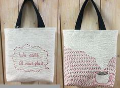 ・・・・・・・・・・・・・・Sakura work home Embroidery Bags, Japanese Embroidery, Shashiko Embroidery, Boro Stitching, Sac Week End, Freehand Machine Embroidery, Japanese Bag, Tie Crafts, Jute Bags
