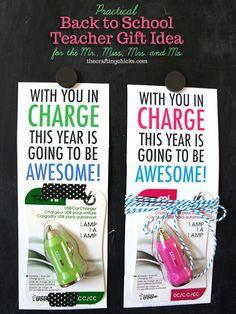 awesome teacher gift idea---USB Charger! #freeprintable