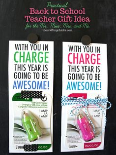 awesome teacher gift idea---USB Charger! #freeprintable