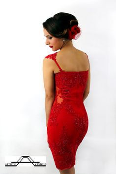 Anita & Alexandra Artistic Vision #artistic #vision #trend #red #dress #lace #style #creative #design #passion