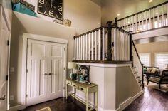 The Roman 4000 | Listings | Castle Creek Homes - Utah's Premier Home Builder Utah Home Builders, Banisters, Closet Doors, Home Goods, Castle, Stairs, House Design, Living Room, Cool Stuff