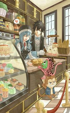 Fairy Tail Gray Fullbuster x Juvia Loxar (By rchella) Fairy Tail Gray, Fairy Tail Love, Fairy Tail Ships, Rog Fairy Tail, Laxus Fairy Tail, Fairy Tail Fotos, Image Fairy Tail, Anime Fairy Tail, Fairy Tail Funny