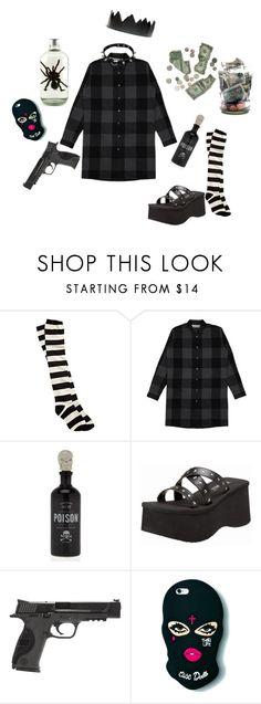 """I want your money AND your life."" by bulletp on Polyvore featuring Billabong, Demonia and Smith & Wesson"