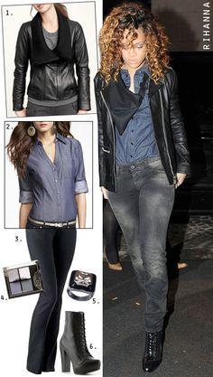Stretch Chambray shirt w/ black jeans