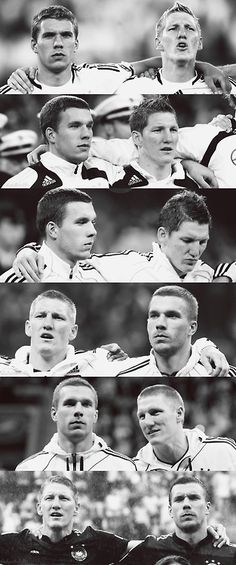 Lukas Podolski - the cutest player - and Bastian Schweinsteiger - the most perfect smile of the whole soccer world