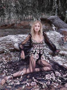 Harper's Bazaar UK January 2017 Nastya Sten by Agata Pospieszynska - Fashion Editorials