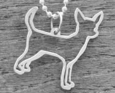 Chihuahua > Chester & Company Shop >  Pendant Only, Small, Sterling Silver  $45