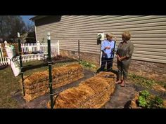 """really good info - very specific about bale conditioning and fertilizing ... less """"winging it"""" than in other hale bale garden videos.   Straw Bale Gardening - YouTube"""