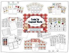 Compound Words English Homework, First Grade Parade, Grammar Games, Future Classroom, Classroom Ideas, Compound Words, Spelling Activities, Reading Centers, Classroom Language