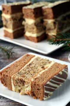 Polish Cake Recipe, Polish Recipes, Lemon Cheesecake Recipes, Chocolate Cheesecake Recipes, Sweet Desserts, Delicious Desserts, Dessert Recipes, Cream Cheese Flan, Christmas Baking