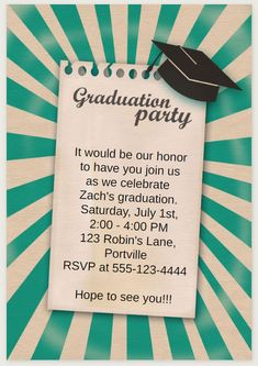 Free graduation party invitation graduation party pinterest save money with these free printable graduation invitations filmwisefo Images