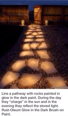Glow in the dark paint for awesome walkway!!!