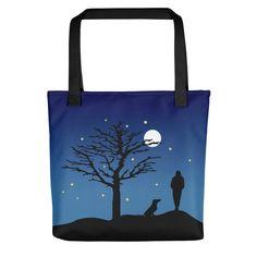 Dachshund Moon - Color Tote Bag