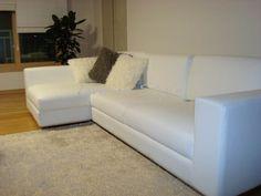 White Leather L-Shape Sofa - Max9009B