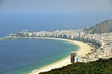 2016 Rio de Janeiro Olympics. Copacabana Beach, site of Open water swimming, Triathlon and Beach volleyball