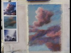 Colourful clouds - Pastel painting course - YouTube