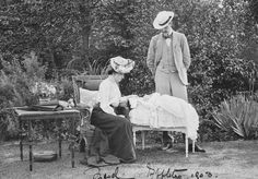 Prince Charles of Denmark and Princess Maud with the infant Prince Olav   Royal Collection Trust