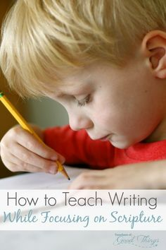 How to Teach Writing While Focusing on Scripture - Don't just teach your child how to form the alphabet, teach them about scripture at the same time. | www.teachersofgoodthings.com