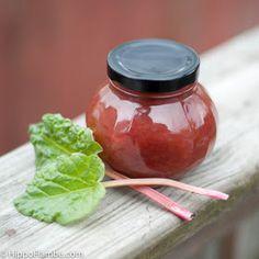 Hippo Flambé: Simple Rhubarb Jam (No Commercial Pectin)