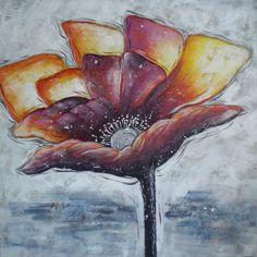 Schilderij: De Kleurrijke Bloem