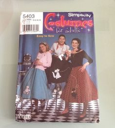 Simplicity Misses Poodle Circle Skirt 50's Costume Pattern 5403 Sizes 6-12