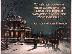 Joy of the Season - by Lianne Schneider. A hand-painted digital adaptation of an 1880 chromolithograph by J. Christmas Quotes, Christmas Home, Vintage Christmas, Christmas Sentiments, Xmas, Christmas Blessings, Christmas Ideas, Arch Street, Norman Vincent Peale