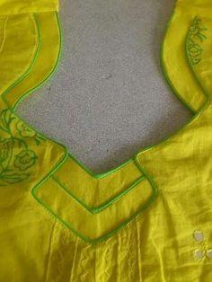 Different types of kurtis neck designs - Art & Craft neck designIdeas Chudithar Neck Designs, Salwar Neck Designs, Saree Blouse Neck Designs, Churidar Designs, Neck Designs For Suits, Kurta Neck Design, Neckline Designs, Sleeves Designs For Dresses, Dress Neck Designs