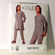 Issey Miyake Sewing Pattern FF uncut caftan tunic dress pants top Vogue 2127 Designer Original authentic fashion size 8 japanese