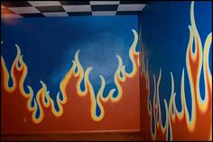 Decorating theme bedrooms - Maries Manor: flames theme decorations - flames bedroom decorating - harley davidson decor
