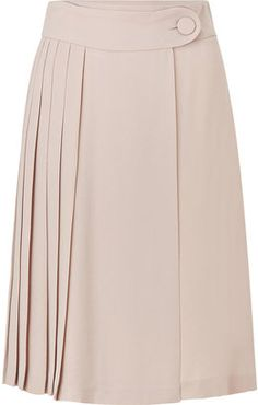 Tara Jarmon Rose Pleated Skirt