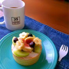 ホットケーキで朝ごはん