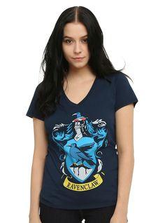 <p>Fitted navy tee from <i>Harry Potter</i> with a Ravenclaw crest design on front.</p>  <ul> <li>50% cotton; 50% polyester</li> <li>Wash cold; dry low</li> <li>Imported</li> <li>Listed in junior sizes</li> </ul>