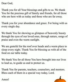 Get here the Thanksgiving prayer for the family. We have collection of short, long and printable thanksgiving prayers by family at dinner Printable Cards, Printables, Dear God, Thanksgiving Prayers, Blessed, Blessings, Quotes, Dinner, Collection