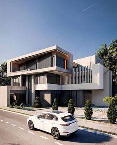 Architecture Building Design, Modern Architecture House, Facade Design, Exterior Design, Modern Houses, Duplex House Design, House Front Design, Small House Design, Modern House Design