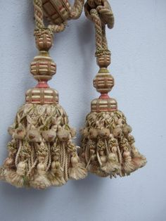 Antique French Tassels Tie Backs A Pair from by JacquelineMcEwan