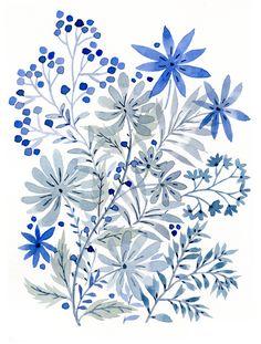 Vikki Chu: Blue Flowers