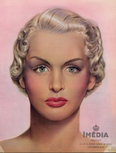 L'Oréal (Cosmetics) 1950 Imédia, Dyes for hair, Hairstyle