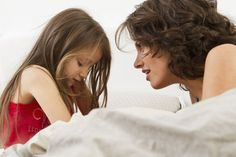 how to handle lying in children - mom and girl talking