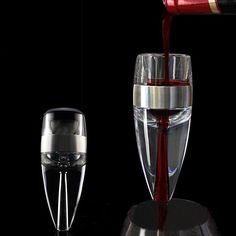 SUNWAY Portable Quick Decanter Wine Aerating Tool With Funnel Base