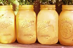Autumn Weddings / Orange Mason Jars for Thanksgiving or Halloween / Distressed Glass Jars / Rustic Wedding Centerpiece for Fall Weddings