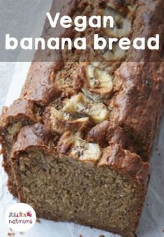 This banana bread is vegan and dairy-free, but the delicious taste will disguise the fact there's anything missing!