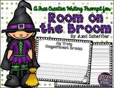 Room on the Broom Writing Prompt Freebie.  This creative writing prompt was created to accompany the Halloween story Room on the Broom by Julia Donaldson.