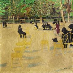 <b>Maurice Brianchon</b> <br /> <b>1899-1979 (French)</b> <br /> In the park <br /> oil on panel <br /> h:41w: 41cm.  <br /> signed lower right <br />  <br /> Other Notes: Location: USA. <br /> For estimated delivery time please contact us.
