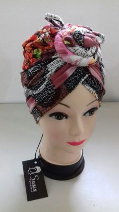Turbante estampado
