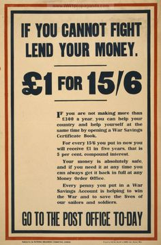 Examples of Propaganda from WW1   WW1 War Bond Posters Page 69