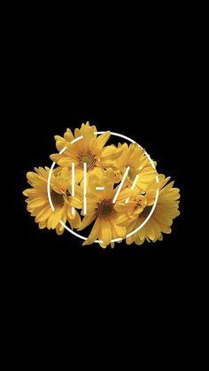 Twenty One Pilots Trench logo yellow daisy wallpaper background Twenty One Pilots Logo, Twenty One Pilots Aesthetic, Daisy Wallpaper, Wallpaper Backgrounds, Iphone Wallpaper, Twenty One Pilots Wallpaper, Fanarts Anime, Mellow Yellow, Cute Wallpapers