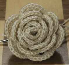 Funky Fabrix: Crochet Rose Pattern by Megan Wills