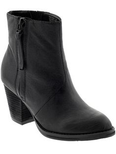 Black heeled ankle boot